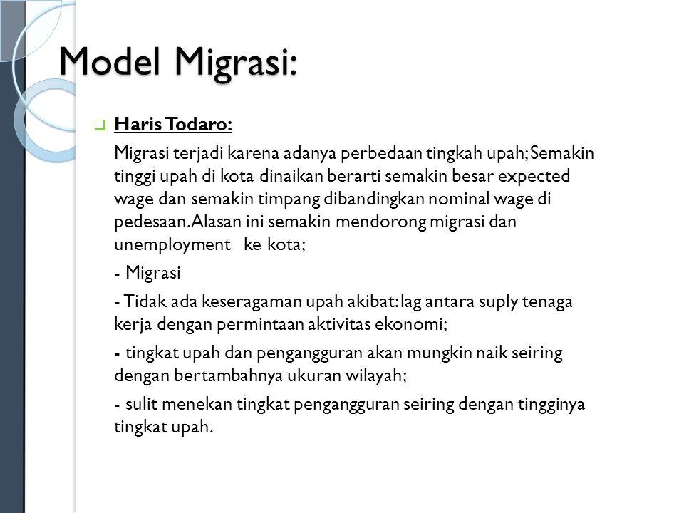 Model Migrasi: Haris Todaro: