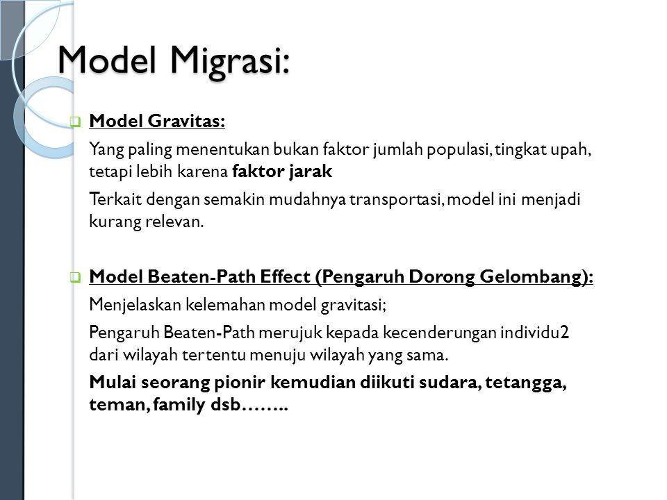 Model Migrasi: Model Gravitas: