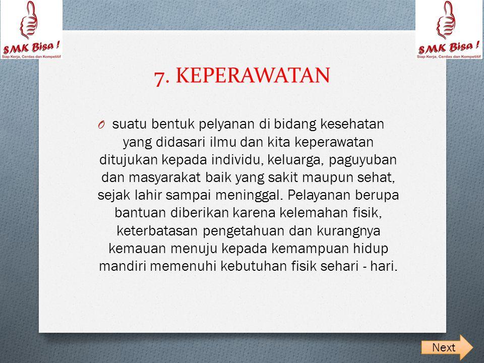 7. KEPERAWATAN