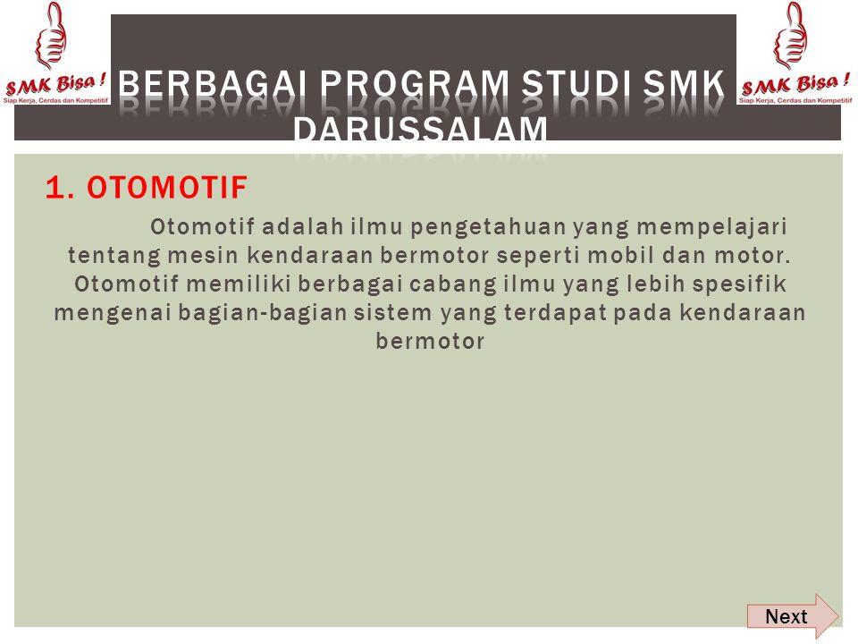 Berbagai program studi SMK Darussalam