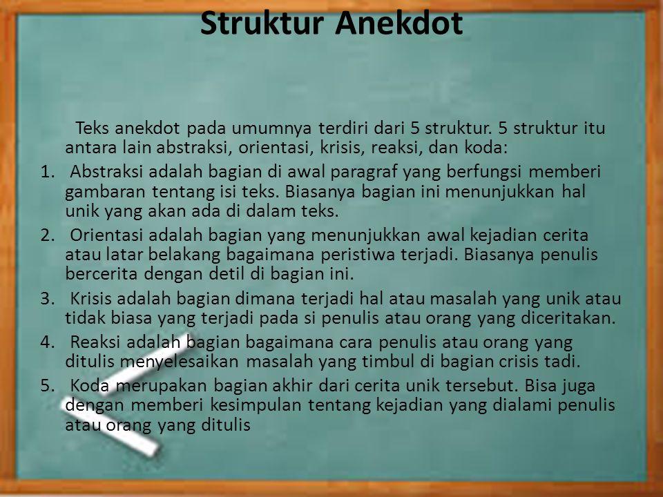 Struktur Anekdot