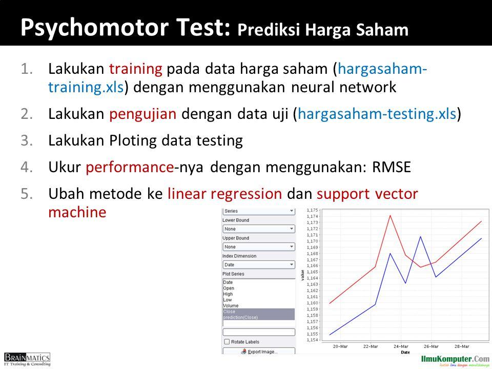 Psychomotor Test: Prediksi Harga Saham