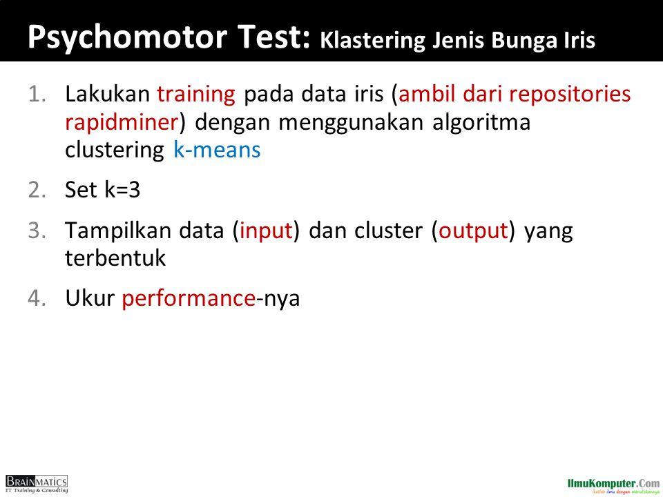 Psychomotor Test: Klastering Jenis Bunga Iris
