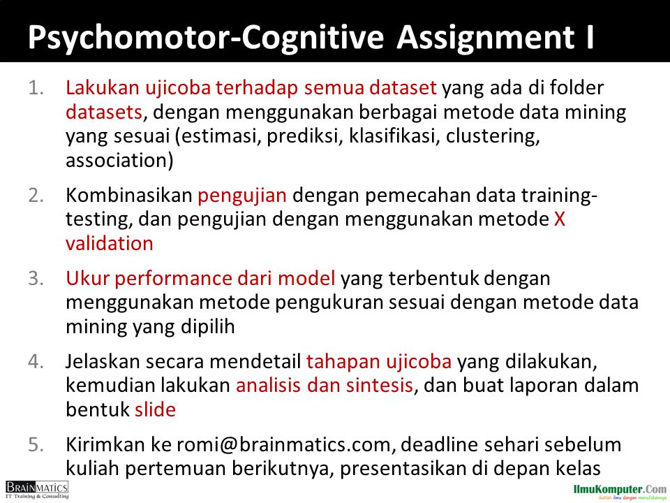 Psychomotor-Cognitive Assignment I