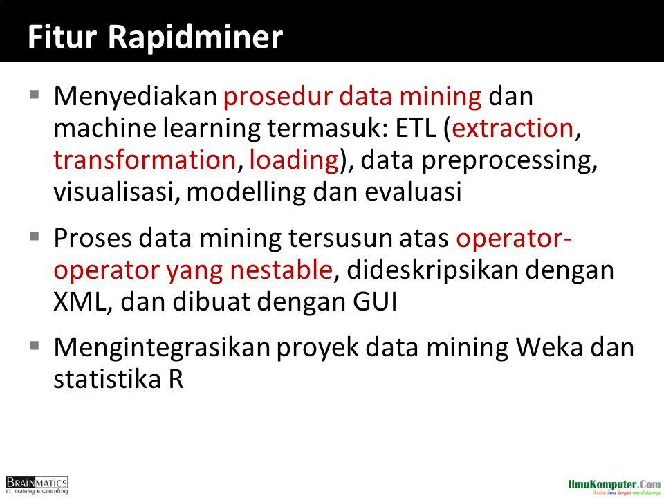 Fitur Rapidminer