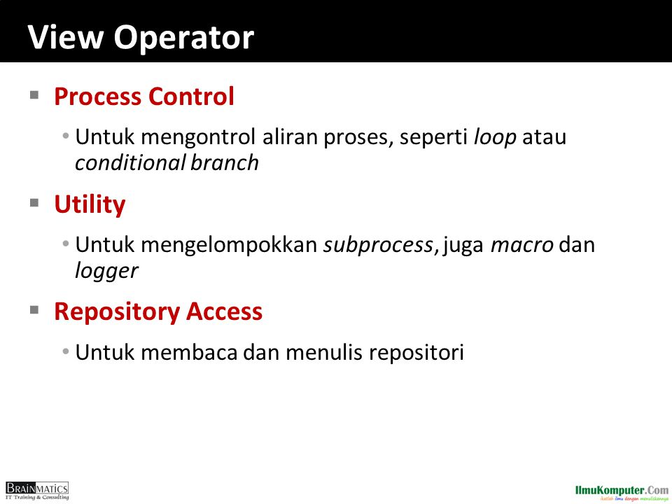 View Operator Process Control Utility Repository Access