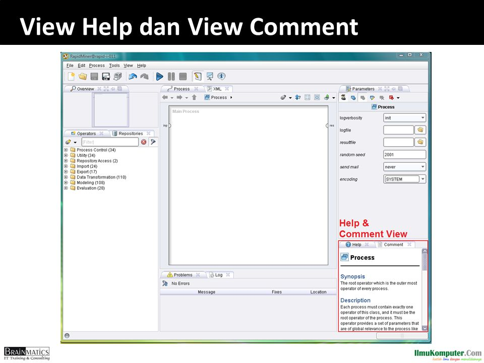 View Help dan View Comment