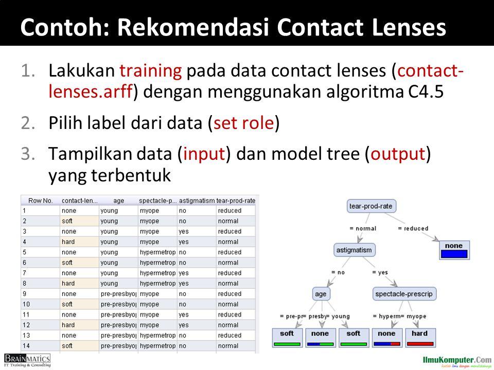 Contoh: Rekomendasi Contact Lenses