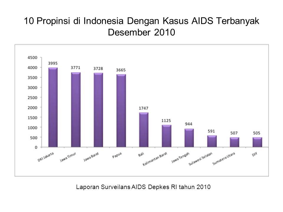 10 Propinsi di Indonesia Dengan Kasus AIDS Terbanyak Desember 2010