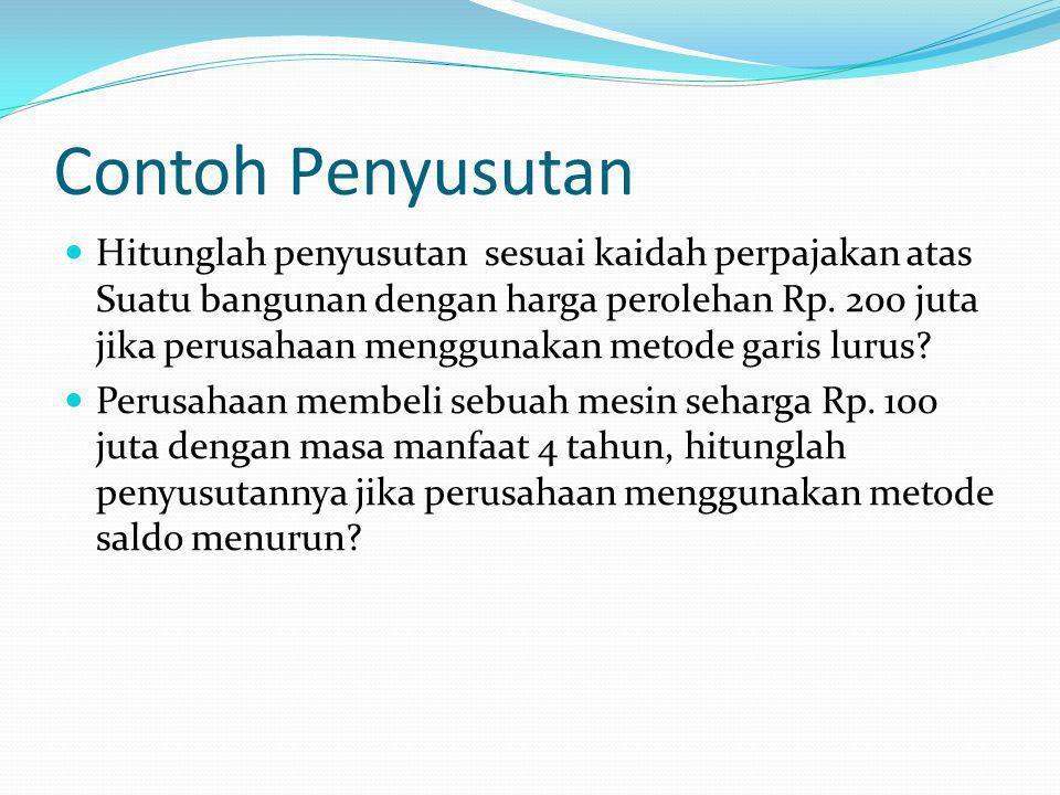 Contoh Penyusutan