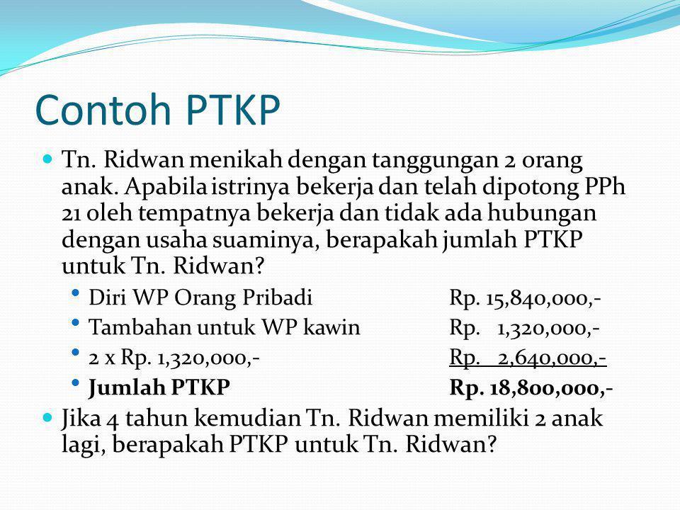 Contoh PTKP