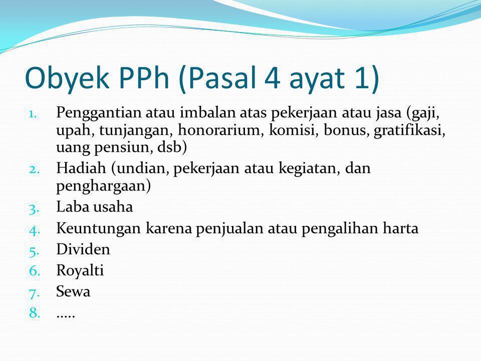Obyek PPh (Pasal 4 ayat 1)