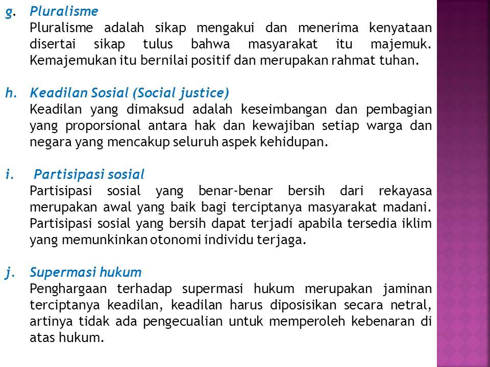 g. Pluralisme