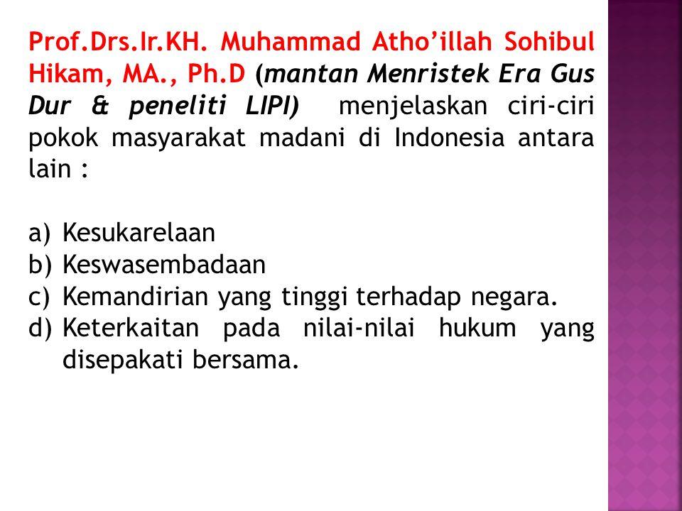 Prof. Drs. Ir. KH. Muhammad Atho'illah Sohibul Hikam, MA. , Ph