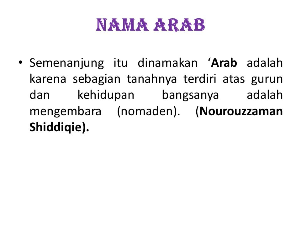 NAMA ARAB