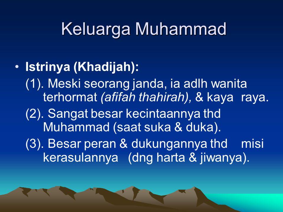 Keluarga Muhammad Istrinya (Khadijah):