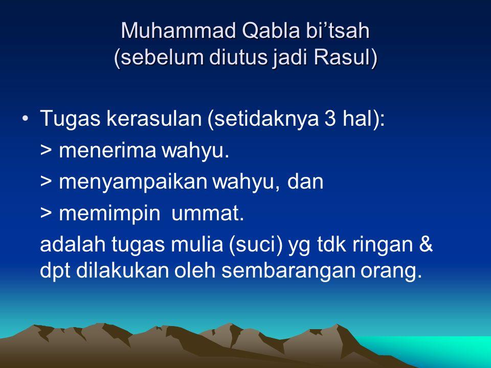 Muhammad Qabla bi'tsah (sebelum diutus jadi Rasul)