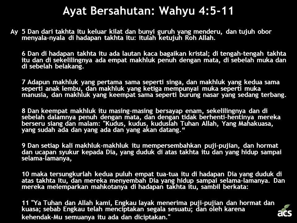 Ayat Bersahutan: Wahyu 4:5-11