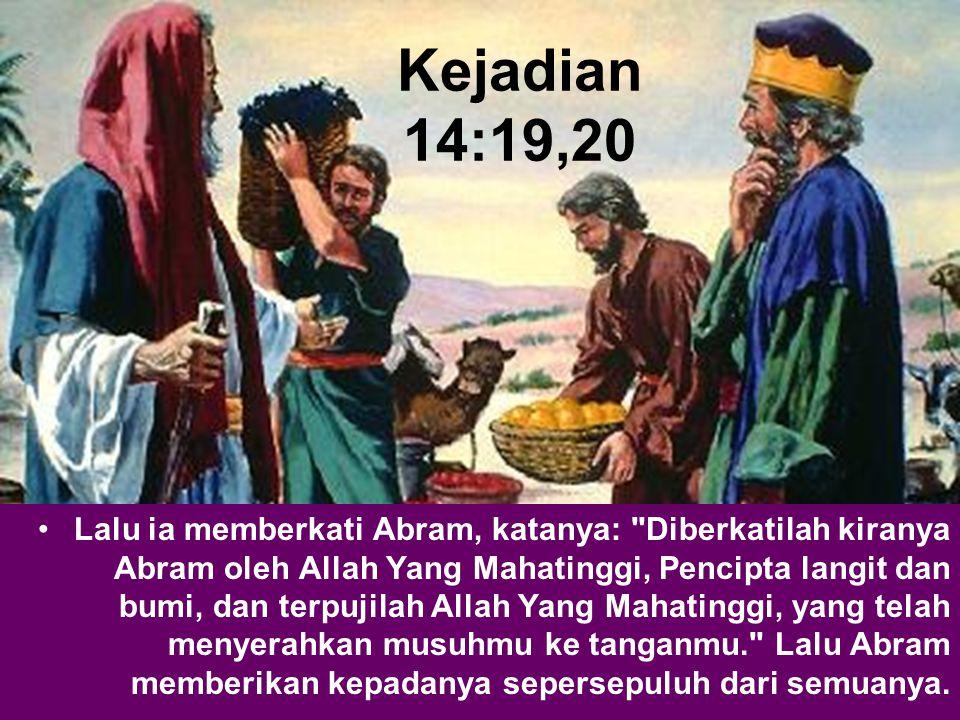 Kejadian 14:19,20