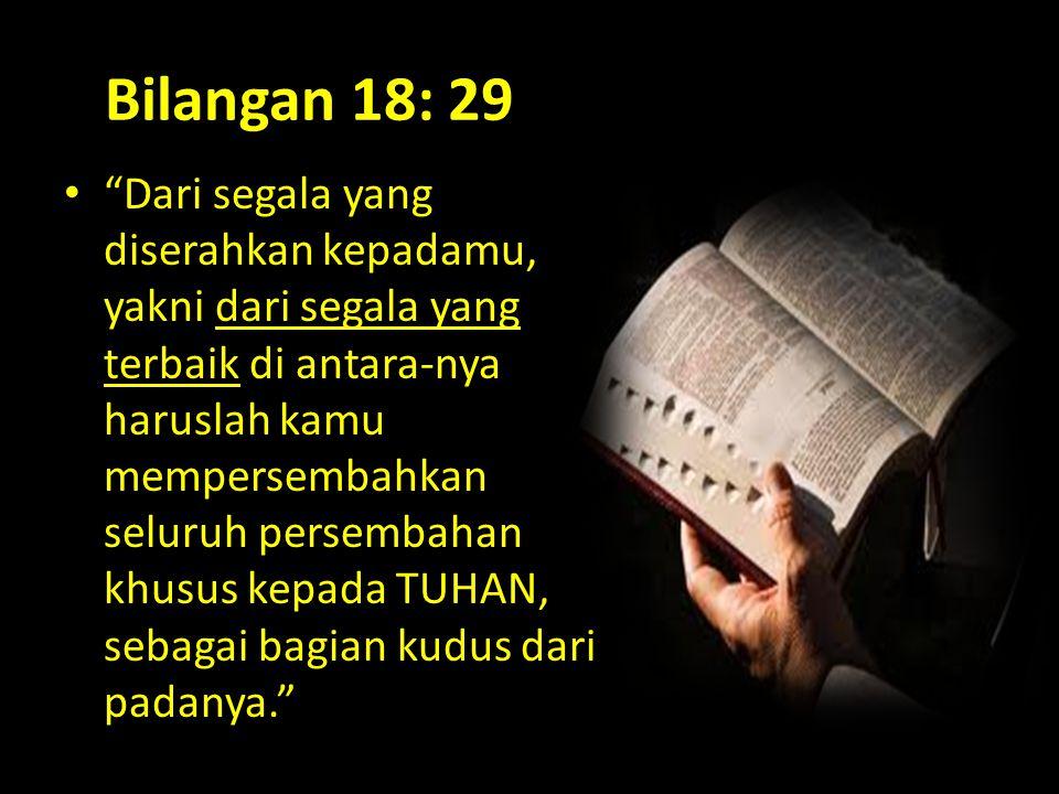 Bilangan 18: 29