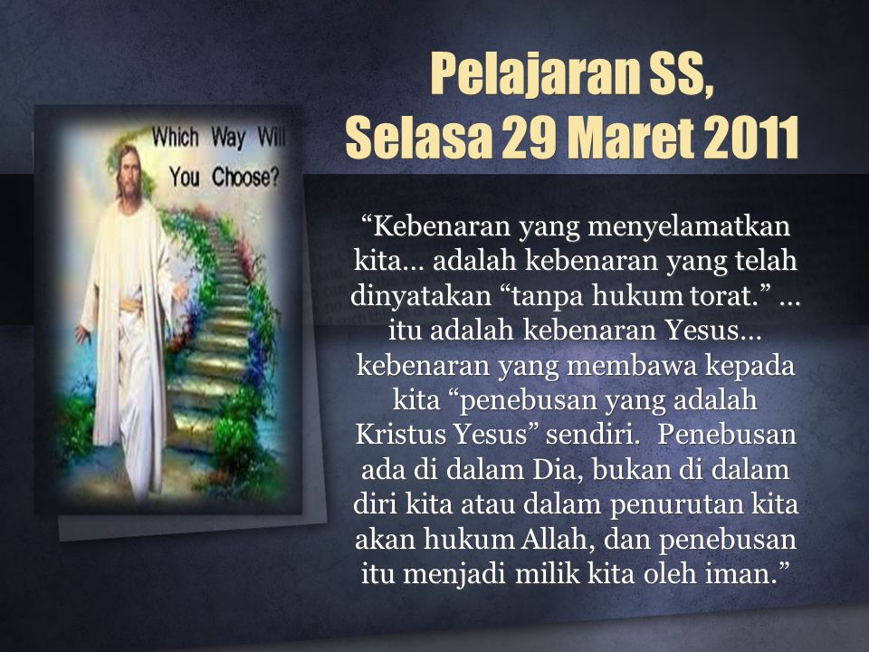 Pelajaran SS, Selasa 29 Maret 2011