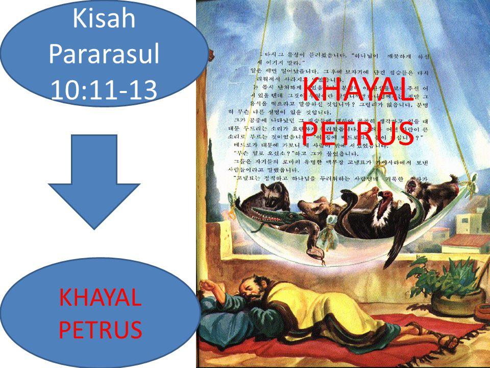 Kisah Pararasul 10:11-13 KHAYAL PETRUS KHAYAL PETRUS