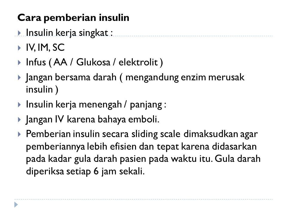 Cara pemberian insulin