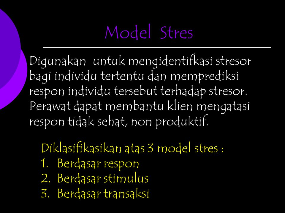 Model Stres