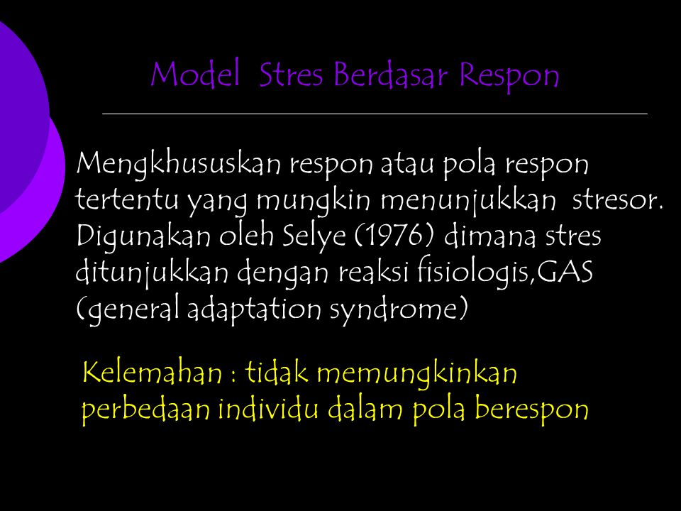 Model Stres Berdasar Respon