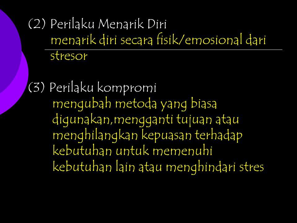 (2) Perilaku Menarik Diri