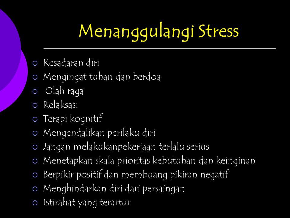 Menanggulangi Stress Kesadaran diri Mengingat tuhan dan berdoa