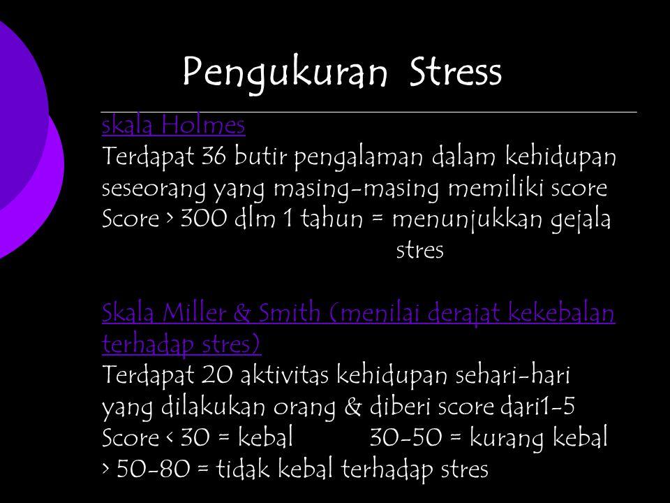 Pengukuran Stress skala Holmes