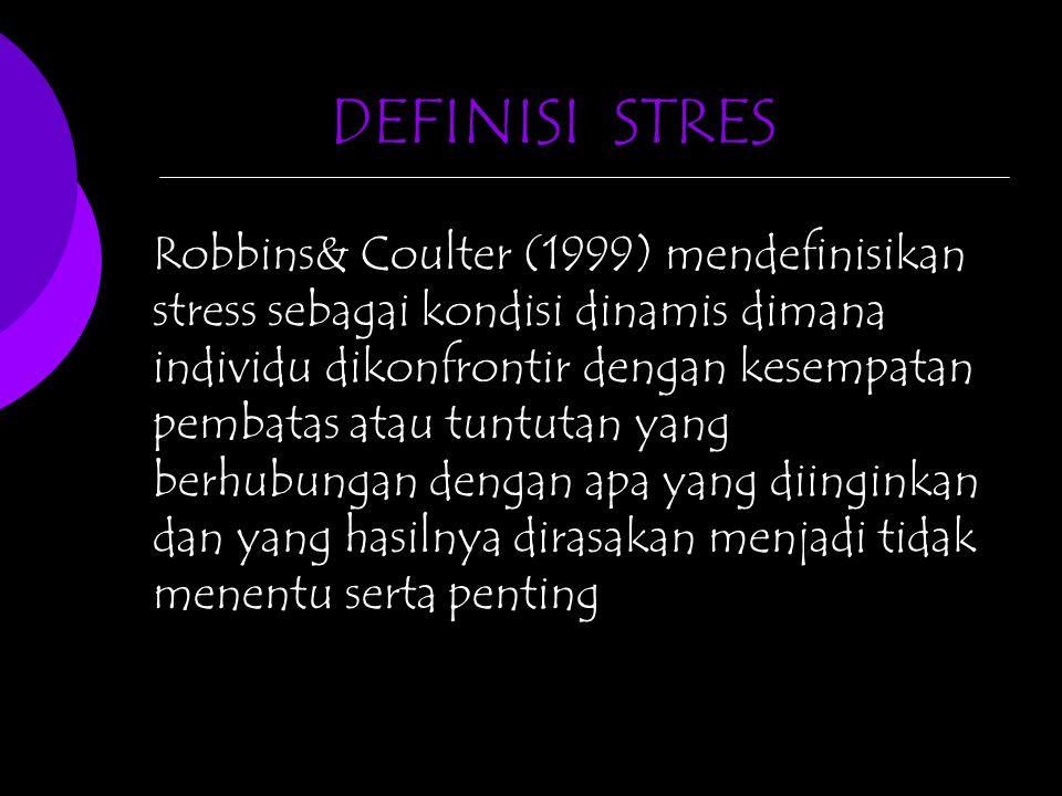DEFINISI STRES