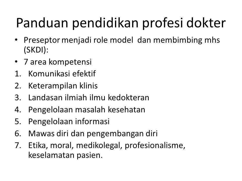 Panduan pendidikan profesi dokter