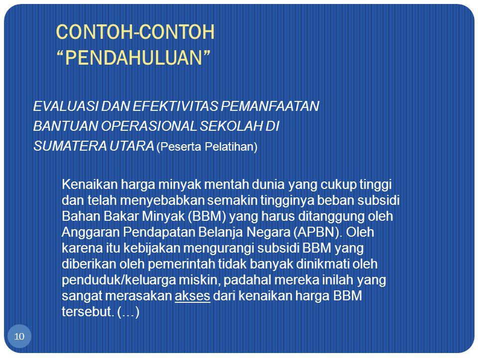 CONTOH-CONTOH PENDAHULUAN