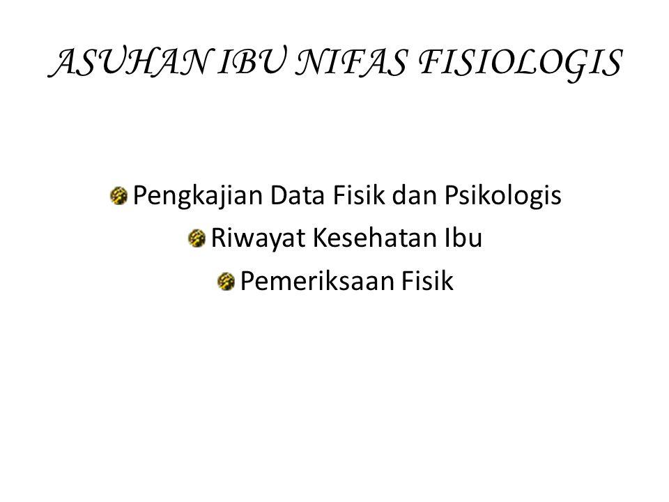 ASUHAN IBU NIFAS FISIOLOGIS