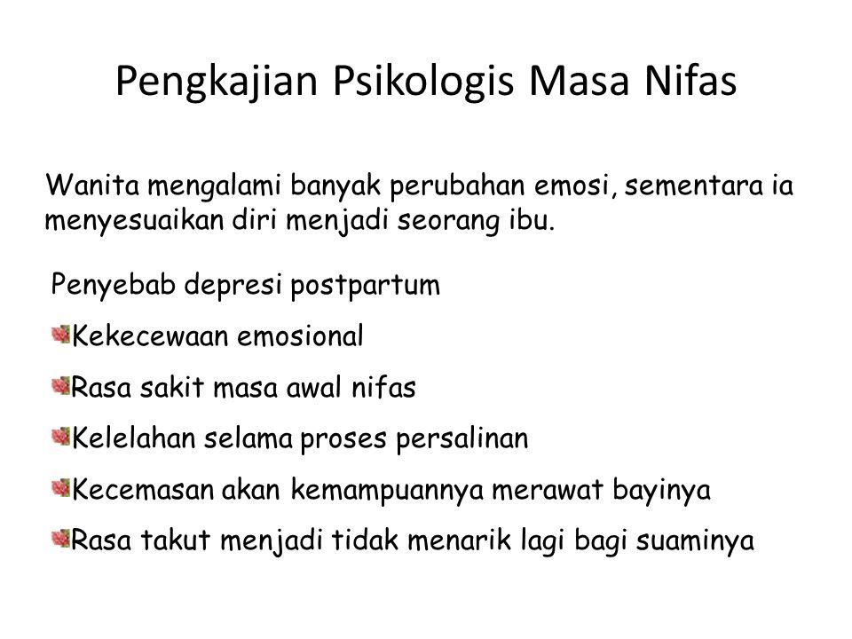 Pengkajian Psikologis Masa Nifas