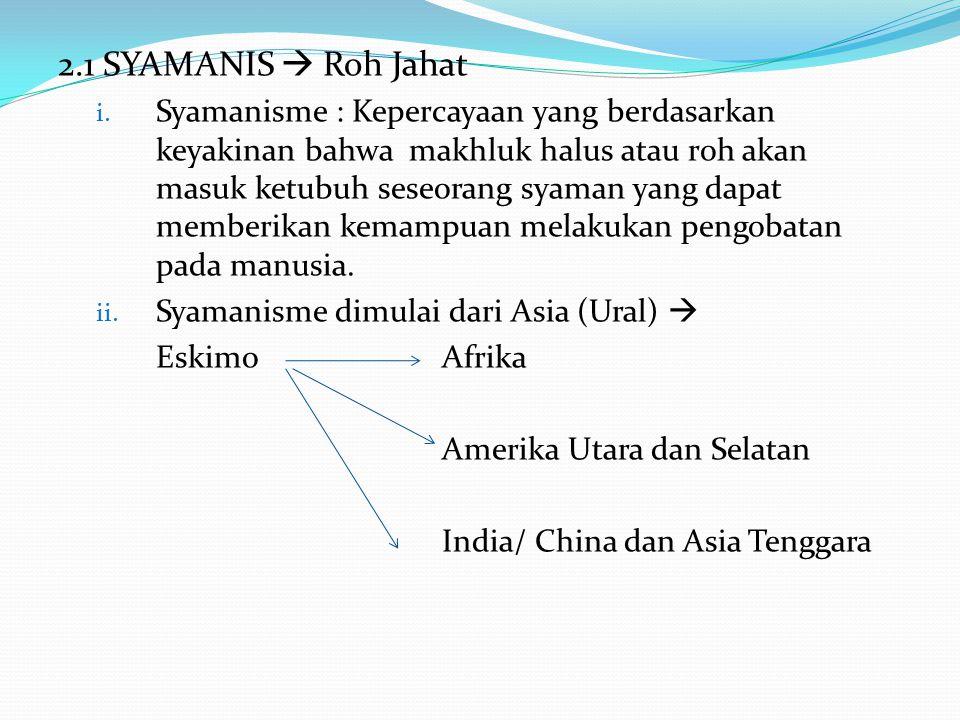 2.1 SYAMANIS  Roh Jahat