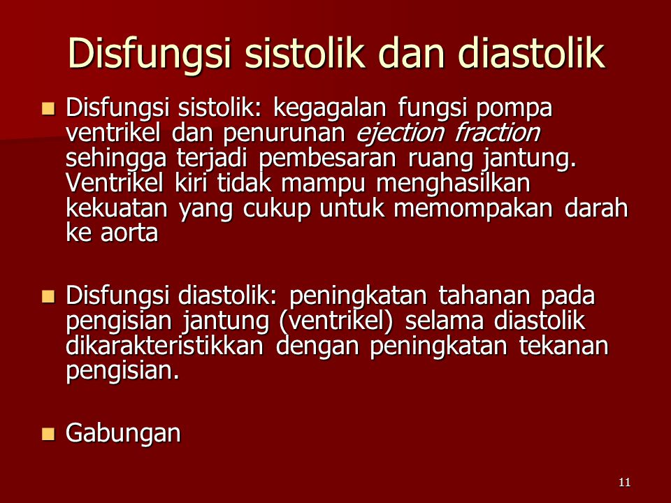 Disfungsi sistolik dan diastolik