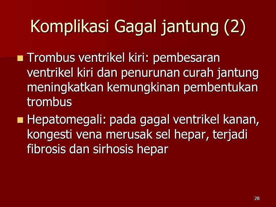 Komplikasi Gagal jantung (2)