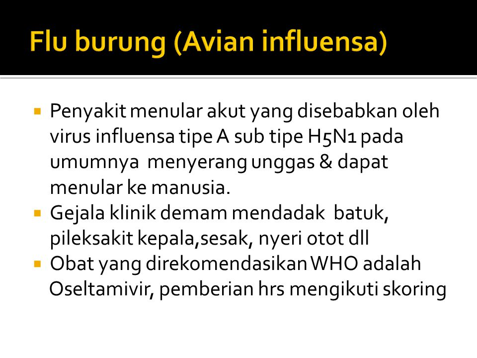 Flu burung (Avian influensa)