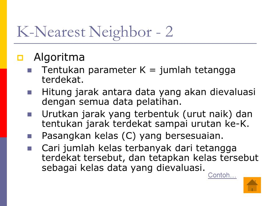 K-Nearest Neighbor - 2 Algoritma