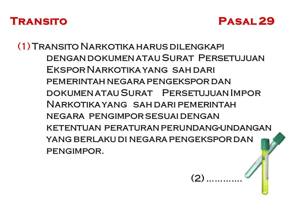 Transito Pasal 29