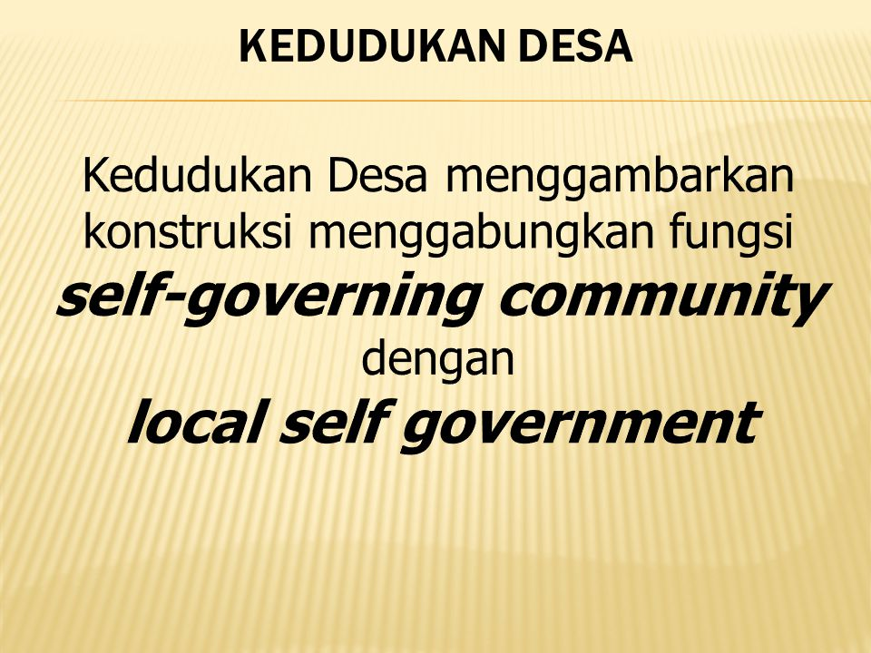 self-governing community