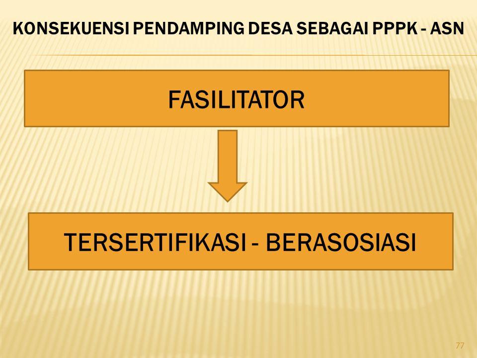 FASILITATOR TERSERTIFIKASI - BERASOSIASI