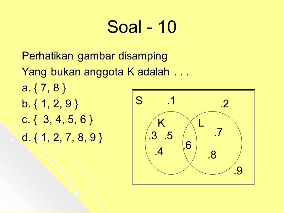 Soal - 10 Perhatikan gambar disamping