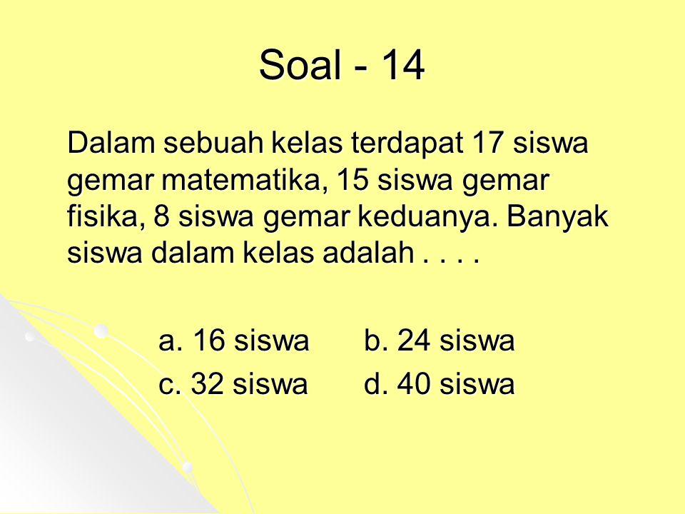Soal - 14