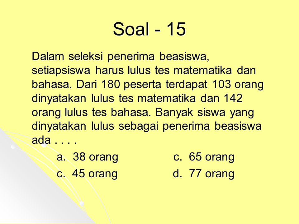 Soal - 15