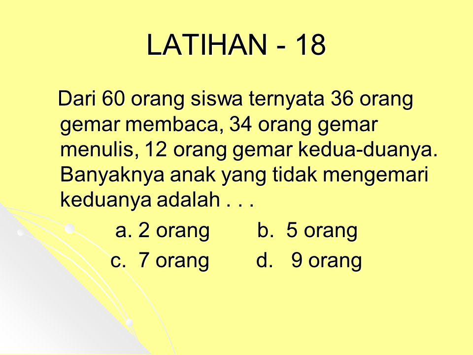 LATIHAN - 18