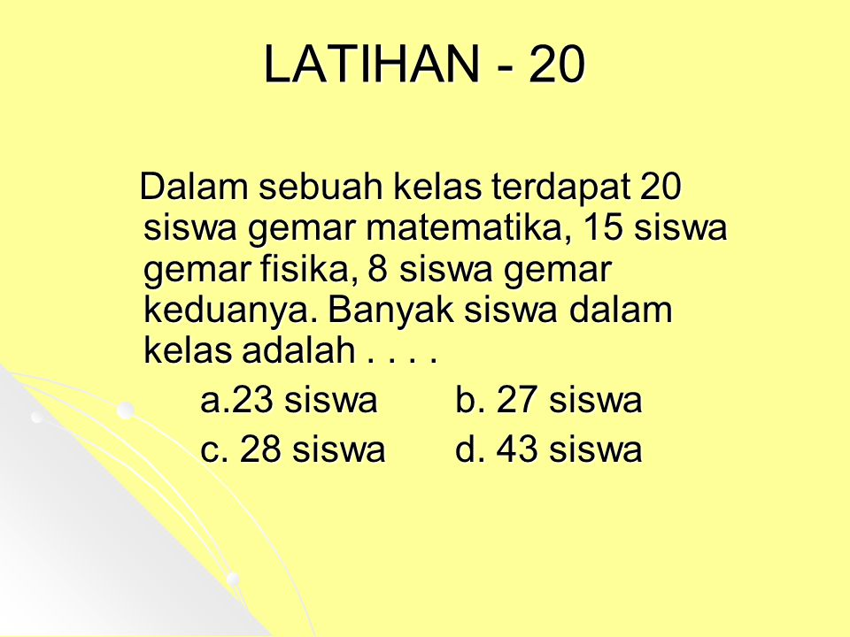 LATIHAN - 20